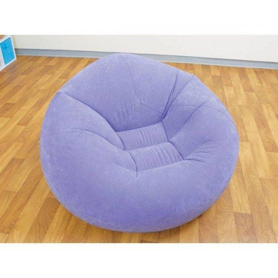 Надуваем ергономичен фотьойл INTEX Beanless Bag, асортимент