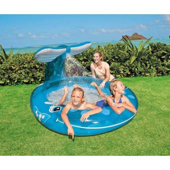 Детски надуваем басейн с пръскало Кит 208х157х99см 57435NP Intex