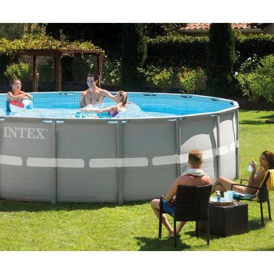 Семеен басейн с метална конструкция с филтърна помпа 488х122см 28324NP Intex