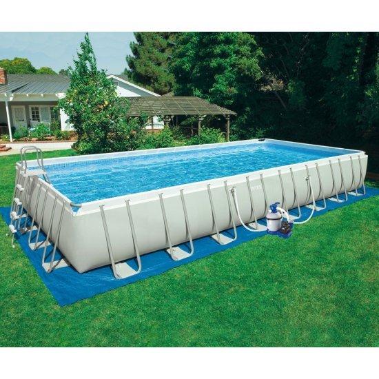 Семеен басейн с метална конструкция с филтърна помпа 975х488х132см 28376NP Intex