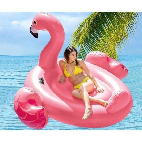 Надуваем остров  розово фламинго 218х211х136см 56288EU Intex