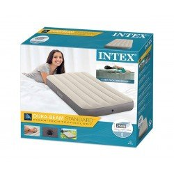 Надуваем матрак INTEX Twin Deluxe Single-High