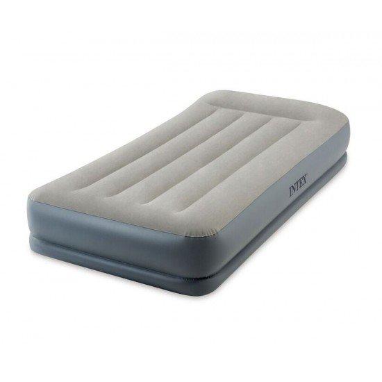 Надуваем матрак с вградена помпа INTEX Pillow Rest Twin