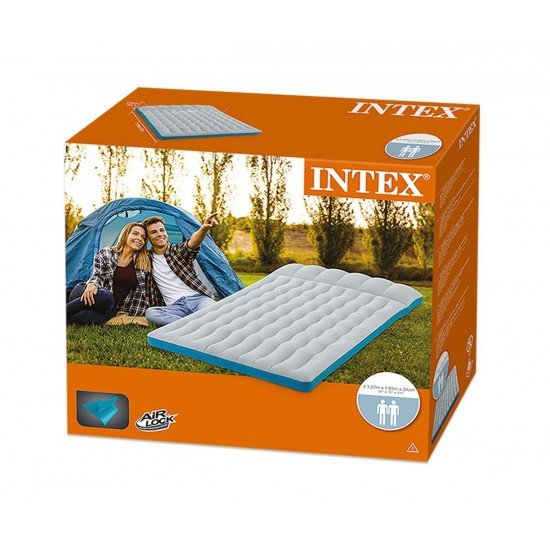 Надуваем матрак INTEX Camping