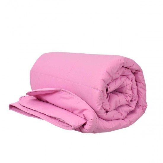 Олекотена завивка ранфорс ед. вата 200/210 - Розов