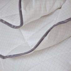 Олекотена завивка микрофибър дв. вата с карбонова нишка 150/210 - бял
