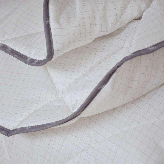 Олекотена завивка микрофибър ед. вата с карбонова нишка 200/210 - бял