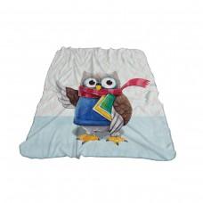 Одеяло Фланел 3D принт 150/200 - Бухал