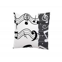 Декоративна възглавница 3D принт 45/45 - Музика