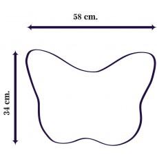 Килим за баня DF печат 3D - Лилави Крила