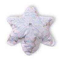 Декоративна възглавница FLEECE печат 3D - Снежинка