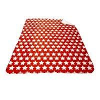 Одеяло DF печат 150/200 - Звезди Червено