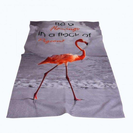 Хавлиена кърпа DF печат 100/170 - Фламинго