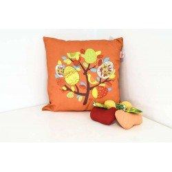 Декоративна възглавница тринити печат 45/45 - Оранжев с Пиле