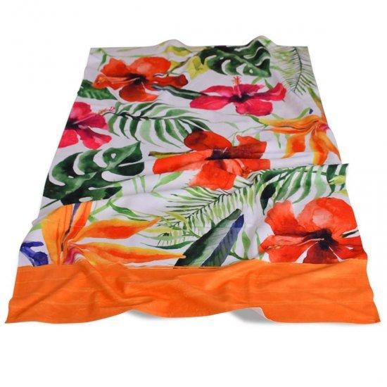 Хавлиена кърпа DF печат 100/170 - Хибискуси