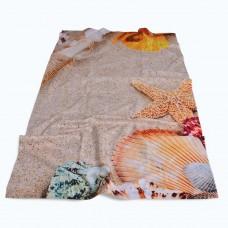 Хавлиена кърпа DF печат 100/170 - Пясъчни Миди