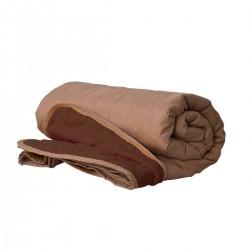 Покривало за легло микрофибър едноцв. 210/240 -  Бежов/Кафяв