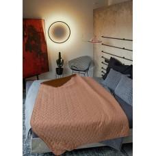Покривало за легло микрофибър едноцв. 150/210 -  Бежов/Кафяв