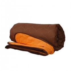 Покривало за легло микрофибър едноцв. 210/240 -  Оранжев/Кафяв