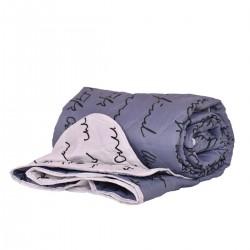 Покривало за легло микрофибър щампа Сидра 210/240 - Сив
