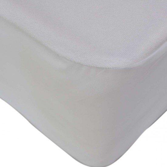 Водонепромокаем протектор за матрак с ластик 160/200/25 - Бял