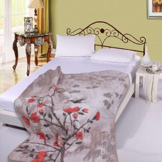 Покривало за легло микрофибър печат Клонка с Птичка 140/210