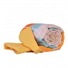 Покривало за легло микрофибър печат Пъзел 140/210