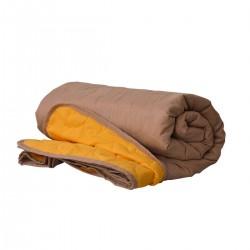 Покривало за легло микрофибър едноцв. 210/240 - Жълт/Бежов