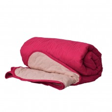 Покривало за легло микрофибър едноцв. 150/210 - Т.Розово/Екрю
