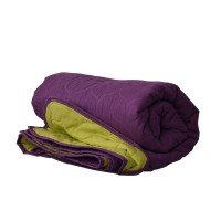 Покривало за легло микрофибър едноцв. 150/210 - Лилав/Зелен