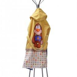Детски халат за баня DF печат L - Куче