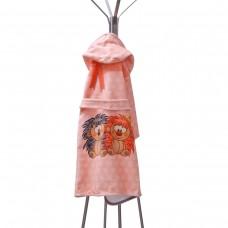 Детски халат за баня DF печат M - Таралежи