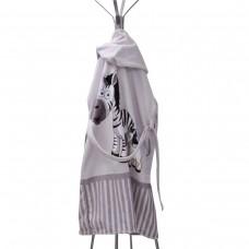 Детски халат за баня DF печат XL - Зебри Семейство