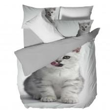 Спално бельо Ранфорс 3D голяма - Коте