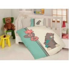 Бебе спално бельо ранфорс 100/150 - Котка с Риба