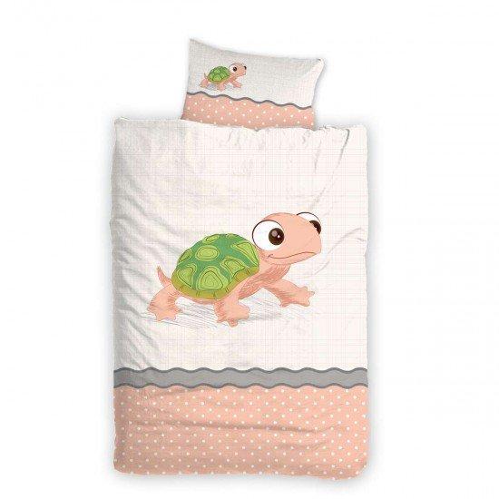 Бебе спално бельо ранфорс 100/150 - Костенурка