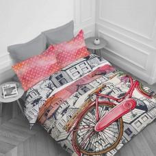 Спално бельо Ранфорс голям - Червено Колело
