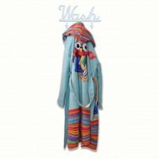 Детски халат за баня DF печат XL - Бухал
