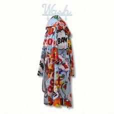 Детски халат за баня DF печат XL - Комикс