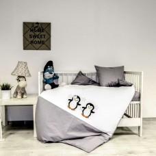 Бебе спално бельо ранфорс 100/150 - Пингвините