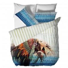 Спално бельо Памучен Сатен голяма - Индианка