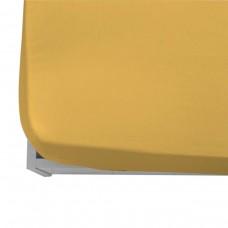 Долен чаршаф ранфорс  с ластик 120/200/20 - Жълт