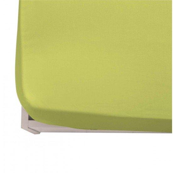Долен чаршаф ранфорс  с ластик 150/200/20 - Зелен