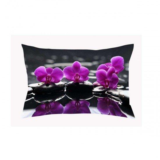 Декоративна възглавница минимат/тринити печат 40/60 - Орхидея