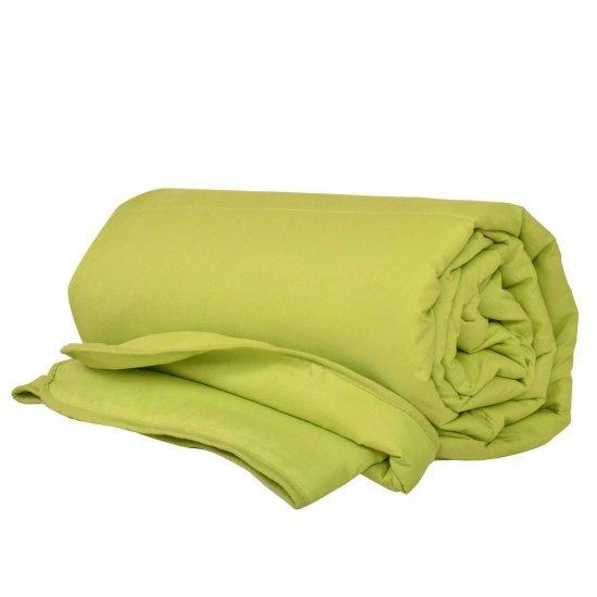 Олекотена завивка Микрофибър дв. вата 150/210 - Зелен Райе