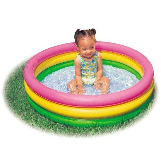 Бебешки надуваем басейн с надуваемо дъно  61x22см 57107NPIntex