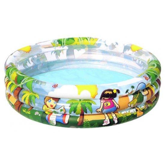 Детски басейн на три нива Bestway Джунгла 122 см