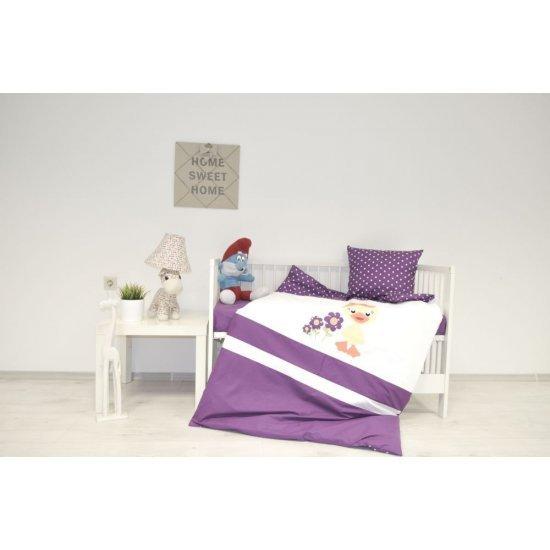 Детско спално бельо Апликация Ранфорс - Пате