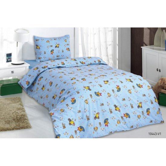 Детско спално бельо Ранфорс Зайче, слонче и патенце MONDO m9869