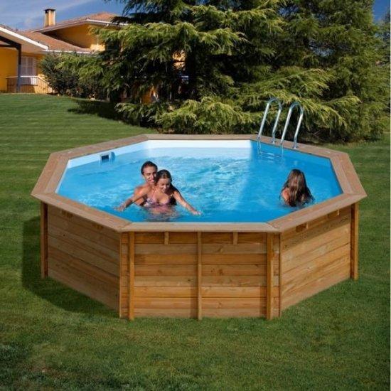 Дървен кръгъл басейн Gre 412x119cм 783331E